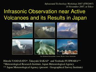 Infrasonic Observation near Active Volcanoes and its Results in Japan