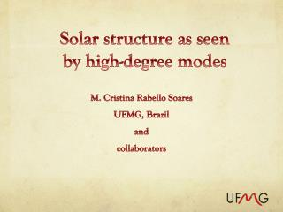 Solar structure as seen by high-degree  modes