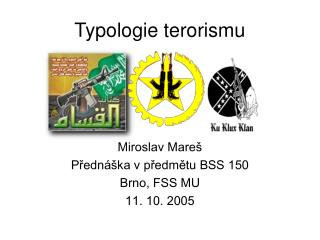 Typologie terorismu