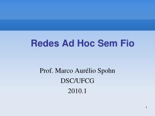 Redes Ad Hoc Sem Fio