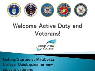 Welcome Active Duty and Veterans!