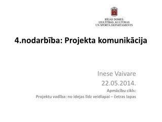 4 .nodarbība: Projekta komunikācija