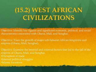 (15.2) WEST AFRICAN CIVILIZATIONS