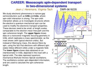 CAREER: Mesoscopic spin-dependent transport