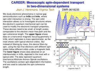 CAREER: Mesoscopic spin-dependent transport
