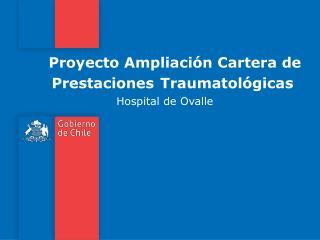 Proyecto Ampliación Cartera de Prestaciones Traumatológicas