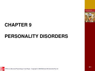 CHAPTER 9 PERSONALITY DISORDERS