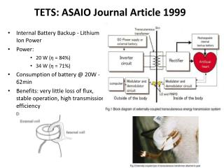 TETS: ASAIO Journal Article 1999