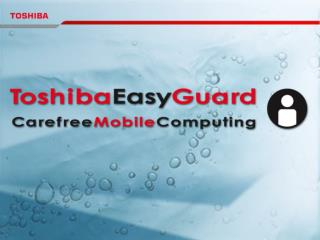 1. Market Issues 2. CSG Strategy 3. The Concept of Toshiba EasyGuard
