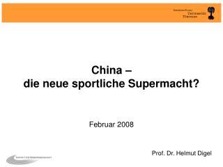 China    die neue sportliche Supermacht