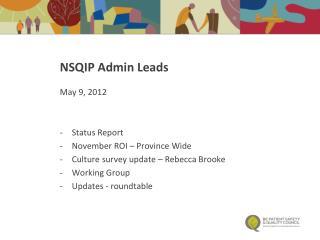 NSQIP Admin Leads