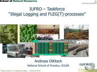 "IUFRO – Taskforce  ""Illegal Logging and FLEG(T)-processes"""
