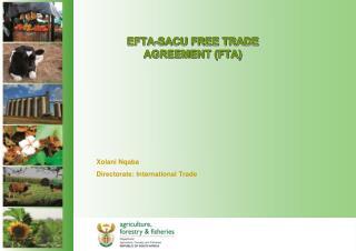 EFTA-SACU FREE TRADE AGREEMENT (FTA)