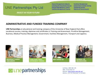 Training Company-UNE Partnerships Pty Ltd