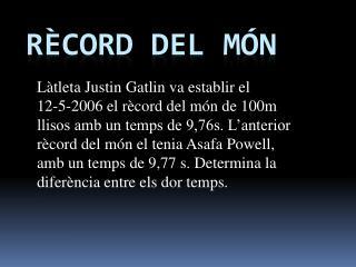 Rècord  del  món