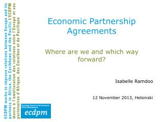 Economic Partnership Agreements