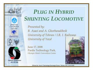 Plug in Hybrid  Shunting Locomotive