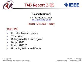 TAB Report 2-05