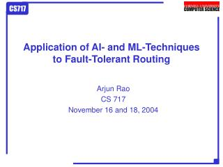 Application of AI- and ML-Techniques to Fault-Tolerant Routing