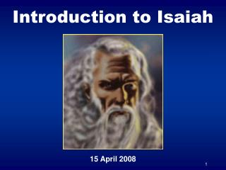 Introduction to Isaiah