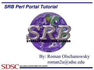 SRB Perl Portal Tutorial