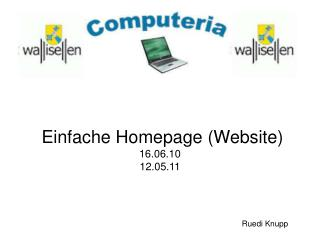 Einfache Homepage Website 16.06.10 12.05.11