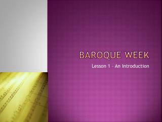 Baroque week
