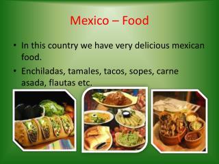 Mexico – Food
