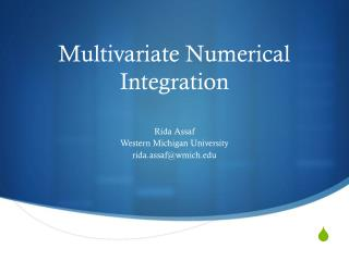 Multivariate Numerical Integration