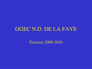 OGEC N.D. DE LA FAYE