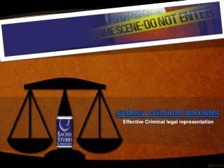 Sydney Criminal Barrister