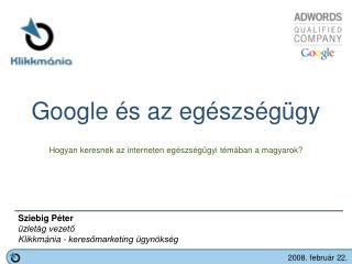 Google és az egészségügy