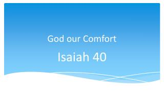 God our Comfort