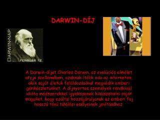 DARWIN-DÍJ