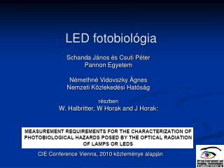 LED  fotobiológia