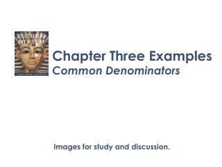 Chapter Three Examples Common Denominators