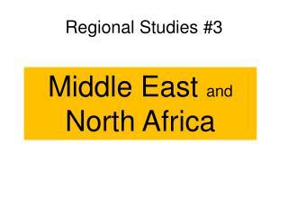 Regional Studies #3