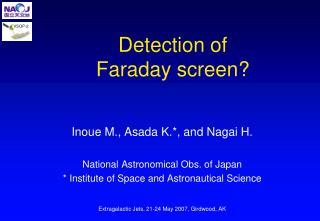Detection of Faraday screen?