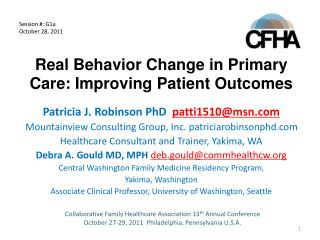 Real Behavior Change in Primary Care: Improving Patient Outcomes