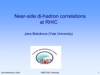 Near-side di-hadron correlations  at RHIC