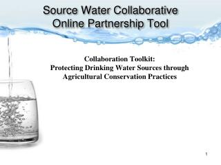 Source Water Collaborative Online Partnership Tool