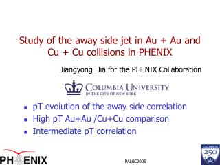 Study of the away side jet in Au + Au and Cu + Cu collisions in PHENIX