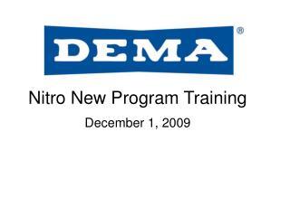 Nitro New Program Training