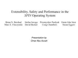 Presentation by Omar Abu-Azzah