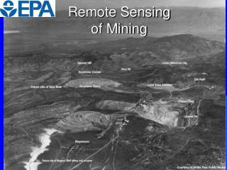 Remote Sensing  of Mining