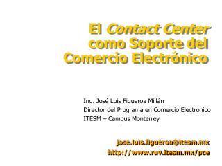 Ing. José Luis Figueroa Millán Director del Programa en Comercio Electrónico