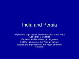 India and Persia