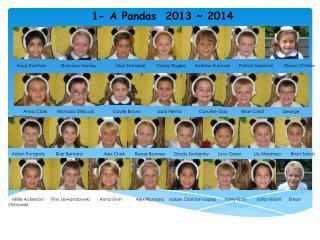 1- A Pandas  2013 ~ 2014
