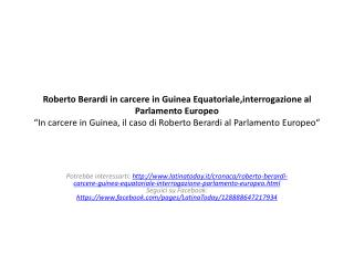 La vicenda di Roberto  Berardi