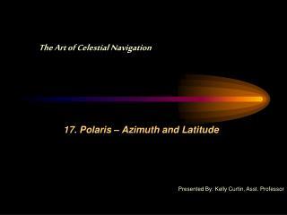 17. Polaris – Azimuth and Latitude
